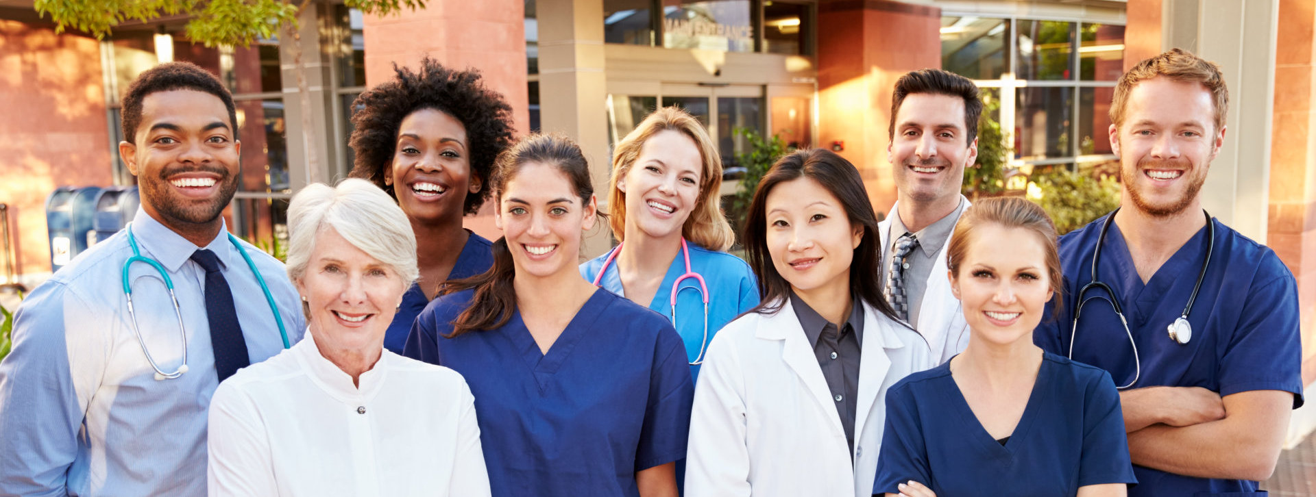 medical practitioners smiling